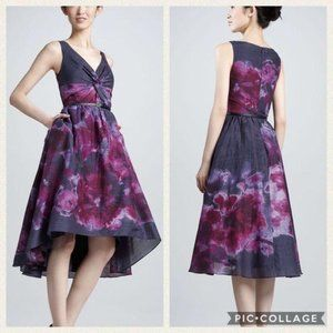 NWT Neiman Marcus cocktail dress watercolor size 6